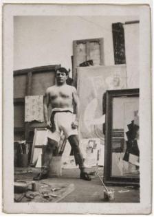 Picasso Pablo, Autoportrait torse nu en culotte de boxeur, Paris, 1915-1916. Collection Dora Maar, © Succession Picasso 2013