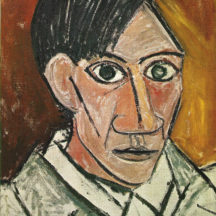 Picasso Pablo, Autoportrait, 1907, huile sur toile, 50 x 46 cm, Galerie nationale de Prague