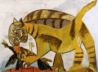 Picasso Pablo, Le chat et l'oiseau, avril 1939, huile sur toile, 96,5 x 128,9 cm, Collection particulière, New York