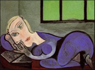 Picasso Pablo, Femme couchée lisant, 1960, huile sur toile, 130,2 x 196,2 cm, Musée Picasso, Paris