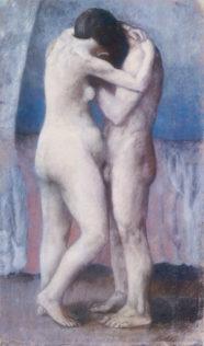 Picasso Pablo, L'étreinte, 1903, huile sur toile, 100 x 60 cm, Musée d'Orsay, Paris