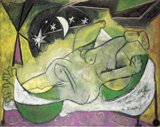 Picasso Pablo, Femme nue couchée (Nu étoilé), août-octobre 1936, huile sur toile, 130,6 x 162,5 cm, Musée National d'art moderne, Paris