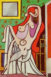 Picasso, Grand nu au fauteuil rouge, huile sur toile - 195 cm x 129 cm, Musée Picasso, Paris
