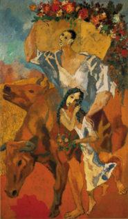 Picasso Pablo, Les paysans, 1906, huile sur toile, 220 x 131 cm, Barnes Foundation Merion, Philadelphie
