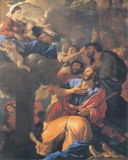 Poussin Nicolas, La vierge apparaissant à saint Jacques le Majeur, 1665, huile sur toile, 301 x 242 cm, Louvre, Paris
