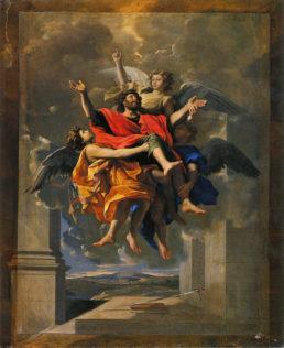 Poussin Nicolas, Le ravissement de saint Paul, 1649, huile sur toile, 128 x 96 cm, Louvre, Paris