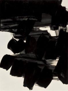 Pierre Soulages, Peinture, 1963, 260 x 202 cm, huile sur toile, Centre national d'art contemporain, Paris