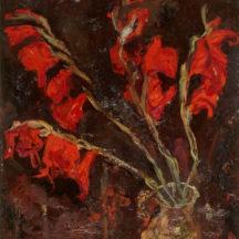 Soutine Chaïm, Glaïeuls, Vers 1919, huile sur toile, 56 x 46 cm, musée de l'Orangerie, Paris
