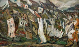 Soutine Chaïm, Les Maisons, 1920-21, Huile sur toile, 58 x 92 cm, Paris, Musée de l'Orangerie