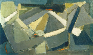 Nicolas de Staël, Calme, 1949, huile sur toile, 96,5 x 162,5 cm, Collection Carrp Janis, New York