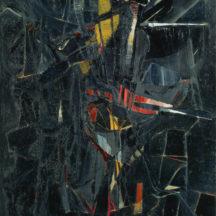 Nicolas de Staël, Composition en noir, 1946, huile sur toile, 200 x 150,5 cm, Kunsthaus, Zürich