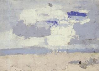 Nicolas de Staël, Marine, 1952, huile sur contreplaqué entoilé, 18 x 22 cm, collection particulière