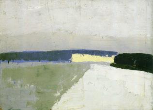 Nicolas de Staël, Paysage, 1952, huile sur carton, 38 x 55 cm, collection particulière