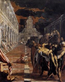 Le Tintoret, Jacopo Robusti dit il Tintoretto, Le transfert du corps de Saint-Marc, 1562-1566, huile sur toile, 398 x 315 cm, Gallerie dell'Accademia, Venise
