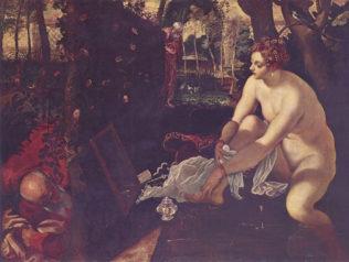 Le Tintoret, Jacopo Robusti dit il Tintoretto, Suzanne et les vieillards, vers 1555, huile sur toile, 146 x 193 cm, Kunsthistorisches Museum, Vienne