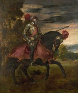 Tiziano Vecellio, dit le Titien, Charles Quint à cheval à Mühlberg, 1548, huile sur toile, 332 x 279 cm, Musée du Prado, Madrid