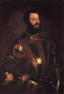 Tiziano Vecellio, dit le Titien, Portrait d'Alfonso d'Avalos, 1576, Huile sur toile, 110 x 84 cm, J. Paul Getty Museum, Los Angeles
