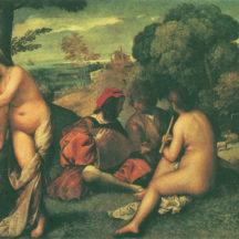 Tiziano Vecellio, dit le Titien, Le concert champêtre, 1509, huile sur toile, 105 x 137 cm, musée du Louvre, Paris