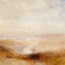 Turner Joseph Mallord William, Paysage avec une rivière et une baie dans le lointain, vers 1845, huile sur toile, 94 x 124 cm, musée du Louvre, paris