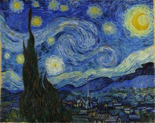Van Gogh Vincent, La Nuit étoilée, 1889, huile sur toile, 73 x 92 cm, Museum of Modern Art, New York