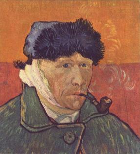 Van Gogh Vincent, Autoportrait à l'oreille bandée, 1889, 43 × 34 cm, collection particulière, Casablanca