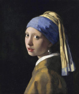 Vermeer Johannes, La Jeune Fille à la perle, 1665, huile sur toile, 45 x 39 cm, Royal Picture Gallery Mauritshuis, La Haye