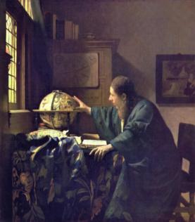 Vermeer Johannes, L'Astronome, 1668, huile sur toile, 51 x 45 cm, musée du Louvre, Paris
