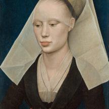 Rogier van der Weyden, Portrait d'une dame, 1460, huile sur panneau, 34 x 25,5 cm, National Gallery of Art, Washington