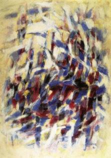 Bazaine Jean, Vent sur les pierres, 1971, huile sur toile, 162 x 114,5 cm, Musée national d'art moderne, Paris