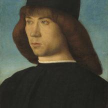 Bellini Giovanni, Portrait d'un jeune homme, 1490, huile sur panneau de peuplier, 30 x 23 cm, National Gallery of Art, Washington