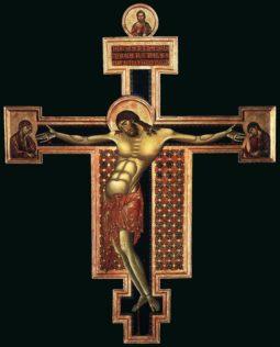 Cimabue, Crucifix, 1268-71, tempera sur bois, 336 x 267 cm, San Domenico, Arezzo