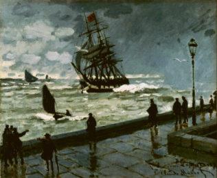 Monet Claude, La jetée au Havre, mauvais temps, 1870, huile sur toile, 50 x 60 cm, Collection privée