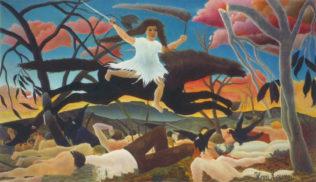 Rousseau Henri, La guerre, dit aussi La chevauchée de la discorde, vers 1894, huile sur toile, 114 x 195 cm, musée d'Orsay, Paris