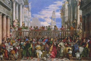 Véronèse, Les noces de Cana, 1563, huile sur toile, 677 x 994 cm, musée du Louvre, Paris