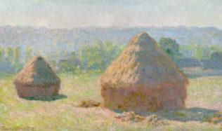 Monet Claude, Meules, fin de l'été, 1891, huile sur toile, 60 x 100 cm, musée d'Orsay, Paris