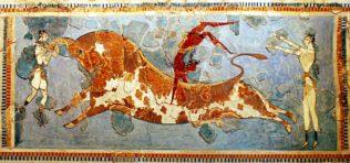 Fresque minoenne, Musée archéologique d'Héraklion