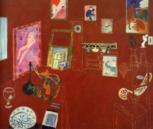 Matisse Henri, L'Atelier rouge, 1911, huile sur toile, 181 × 219,1 cm, Museum of Modern Art, New York