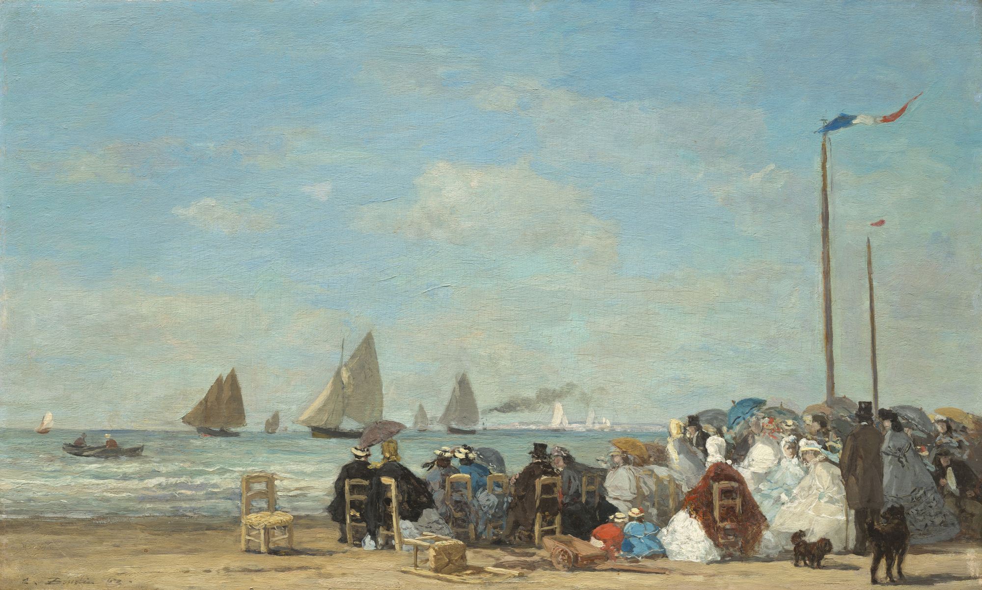 Boudin Eugène, Scène de plage à Trouville, 1863, huile sur toile, 34,8 x 57,5 cm, National Gallery of Art Washington