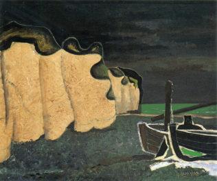Braque George, Les barques sur la plage, 1929, huile sur toile, Collection Laroque-Granoff