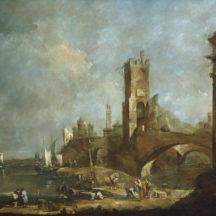 Guardi Francesco, Capriccio d'un port, 1760-1770, huile sur toile, 122 x 178 cm, National Gallery of Art, Washington
