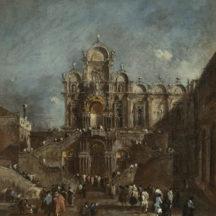 Guardi Francesco, Tribune temporaire dans le Campo, Venise, 1782 ou après, huile sur toile, 51 x 44,7 cm, National Gallery of Art, Washington
