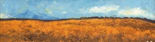 Braque George,La plaine I, 1955-1956, huile sur toile, sans son cadre, 21 x 73 cm, Fondation Maeght, Saint-Paul de Vence