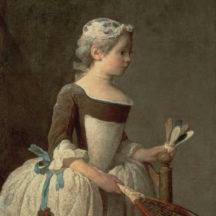 Chardin Jean Siméon, La fillette au volant, 1737, huile sur toile, 81 x 65 cm, collection particulière