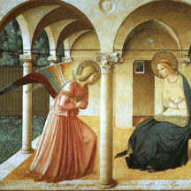 Fra Angelico, Annonciation, 1442-1443. fresque, 230 × 297 cm, couvent San Marco, Florence