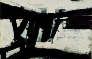 Kline Franz, Sans titre, 1958, huile sur toile, 124,5 x 191 cm, Staatsgalerie Stuttgart, Stuttgart