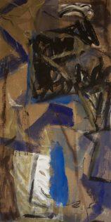 Marie Sallantin, Petite nuit perdue, 1988, acrylique sur toile, 120 x 60 cm