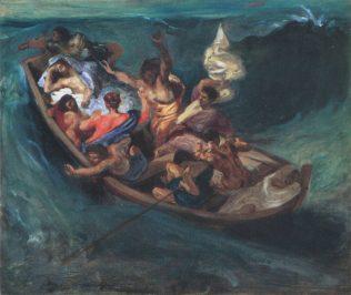 Delacroix Eugène, Le Christ sur le lac de Génésareth, 1840-1845, huile sur toile, 46 × 55 cm, Atkins museum of art, Kansas City