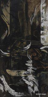 Beaugé Guillaume, Eau Profonde, 2000, médium gravé, 65 x 130 cm