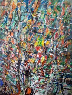 Guillaume Beaugé, Torrent rouge et vert, 2011, 80 X 65 cm