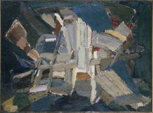 Nicolas de Staël, composition, 1948, huile sur toile, 60,3 x 81,3 cm, The Phillips Collection, Washington